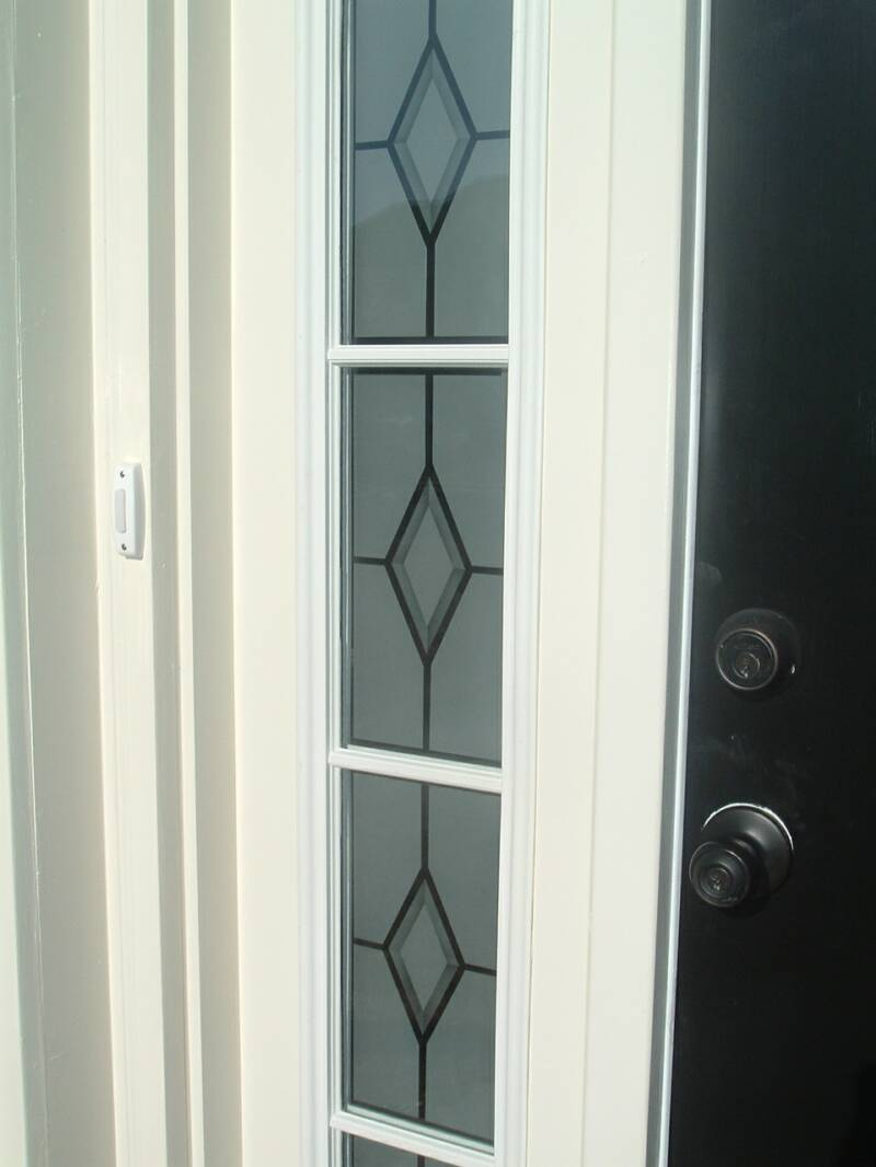Entry door glass etched glass etched glass design by for Glass entry doors for home
