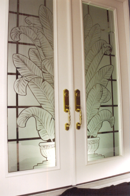 Doors Etched Glass Etched Glass Design By Premier